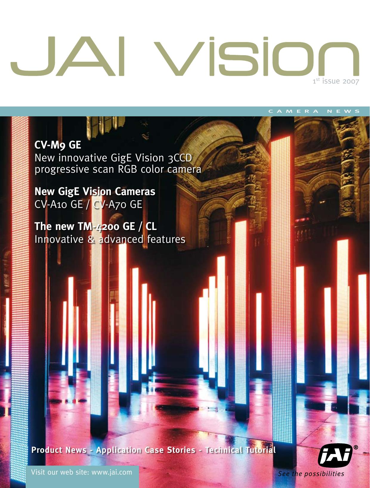 New GigE Vision Cameras CV-A10 GE / CV-A70 GE CV | manualzz com