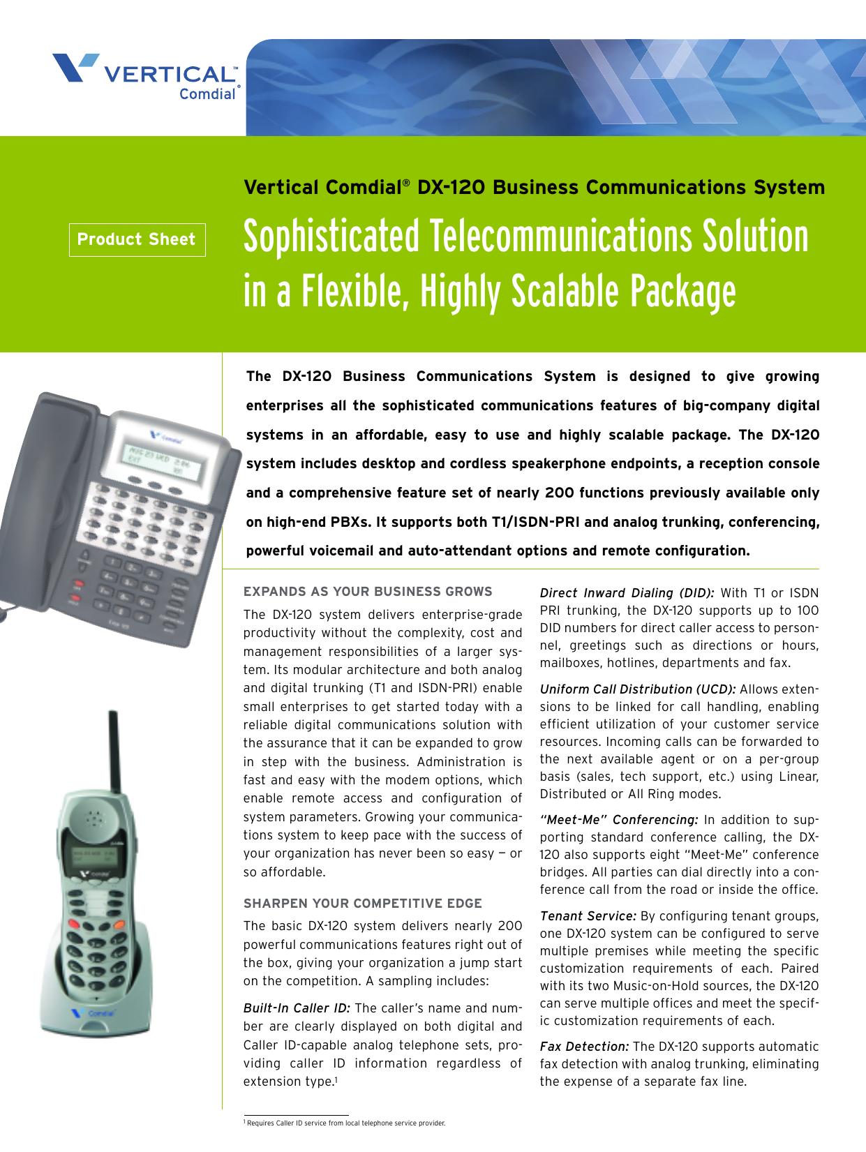 Comdial 7260-00 dx-80 and dx-120 digital speaker display phone ten.