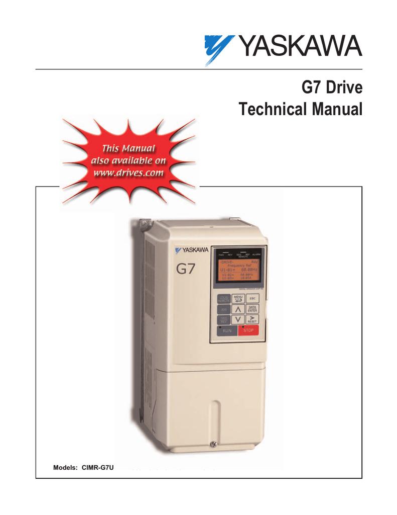 Yaskawa Varispeed G7 Specifications Manualzz