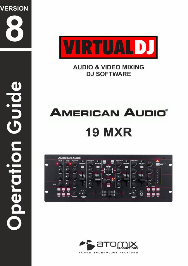 VirtualDJ 8 – American Audio 19MXR 1 | manualzz com