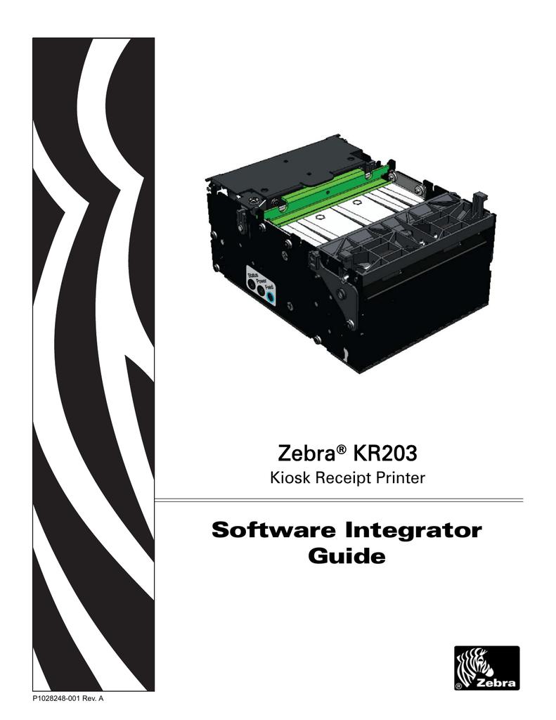 Zebra KR203 Specifications   manualzz com