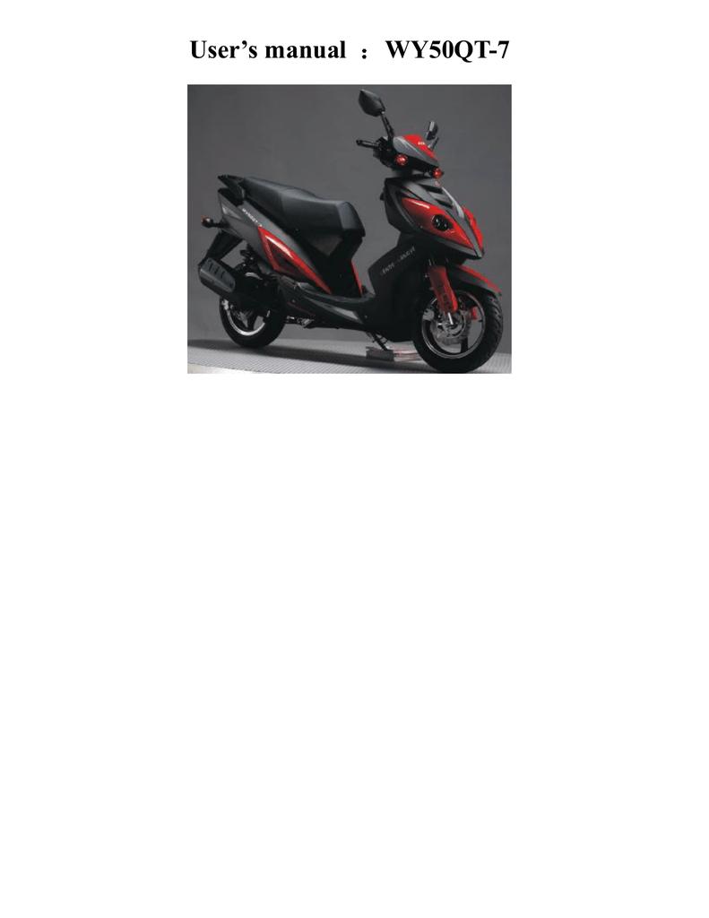 Wangye Wy50qt 7a Users Manual 50qt Moped Wiring Diagram