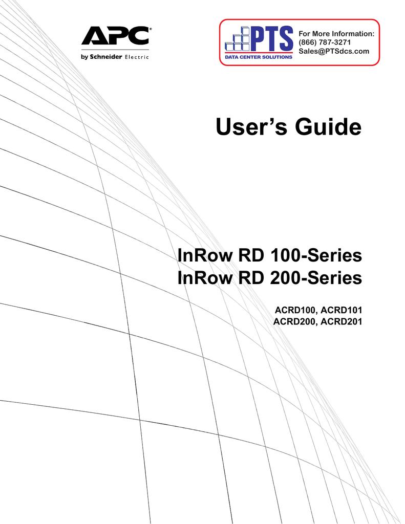 APC IN ROW RD ACRD101 User`s guide | manualzz com
