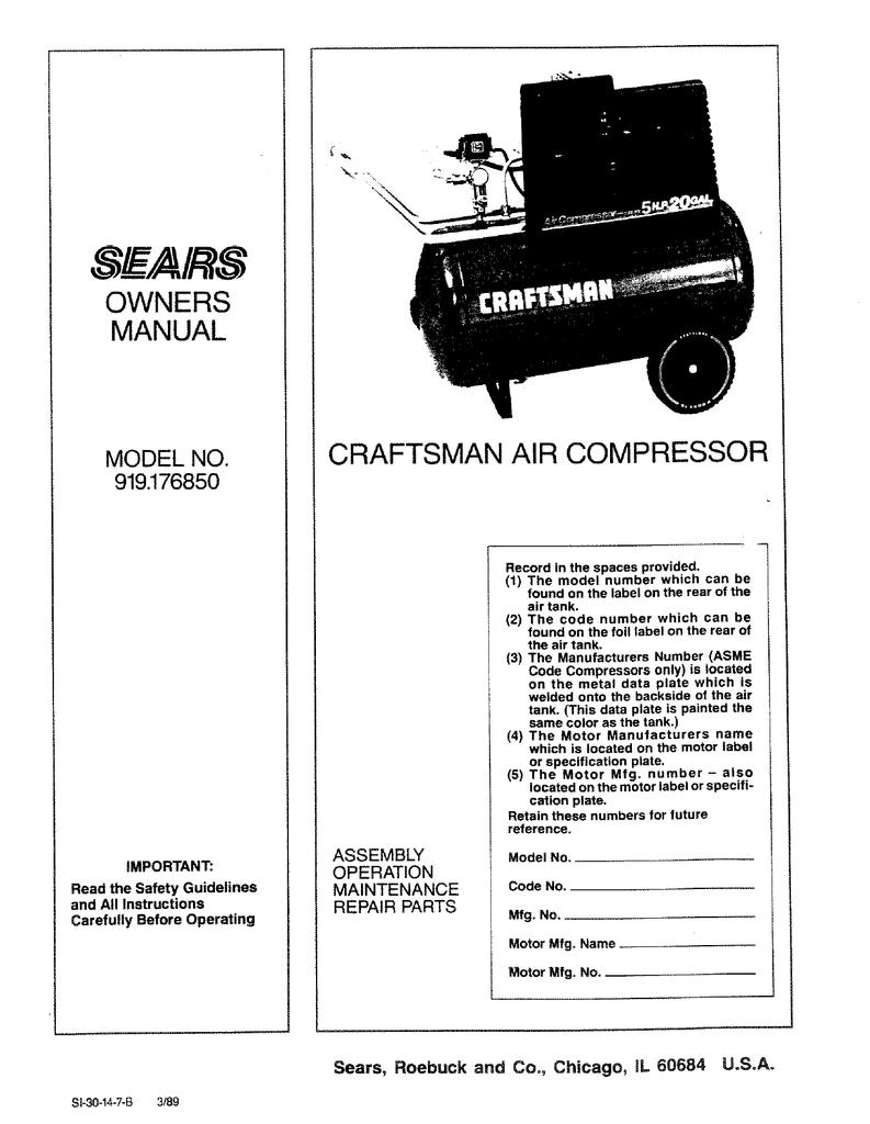 Craftsman 919.176850 Specifications | manualzz.com on