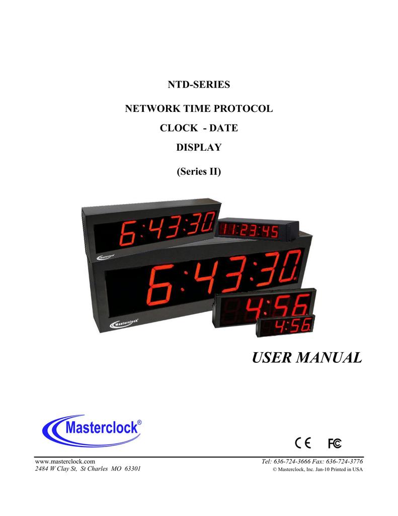 Masterclock NTDS46 User manual | manualzz com