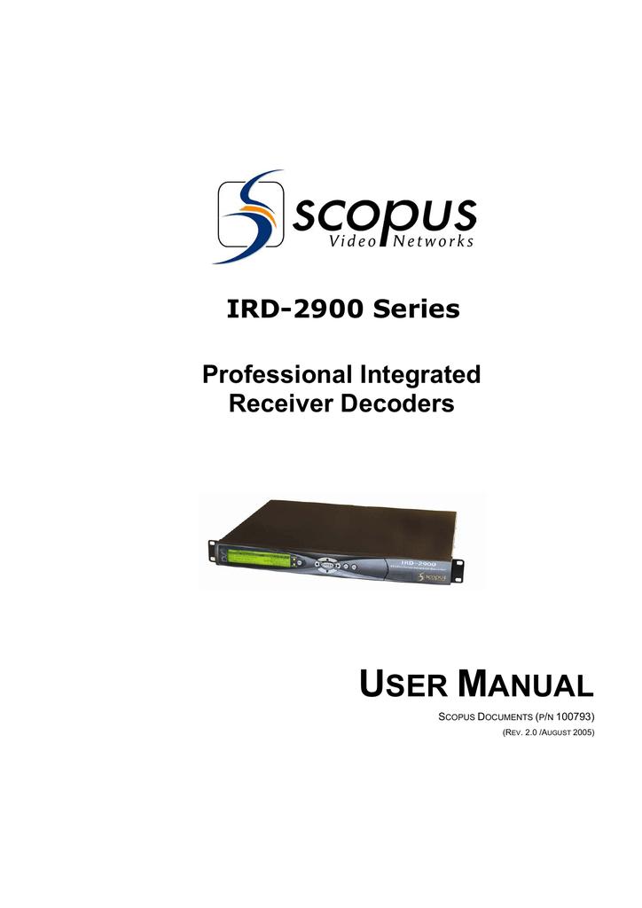 Scopus 2990 инструкция