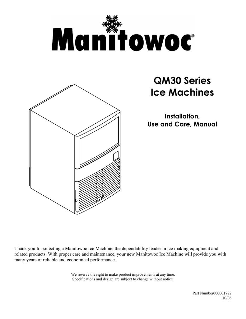 Manitowoc QM30 Specifications   manualzz.com on
