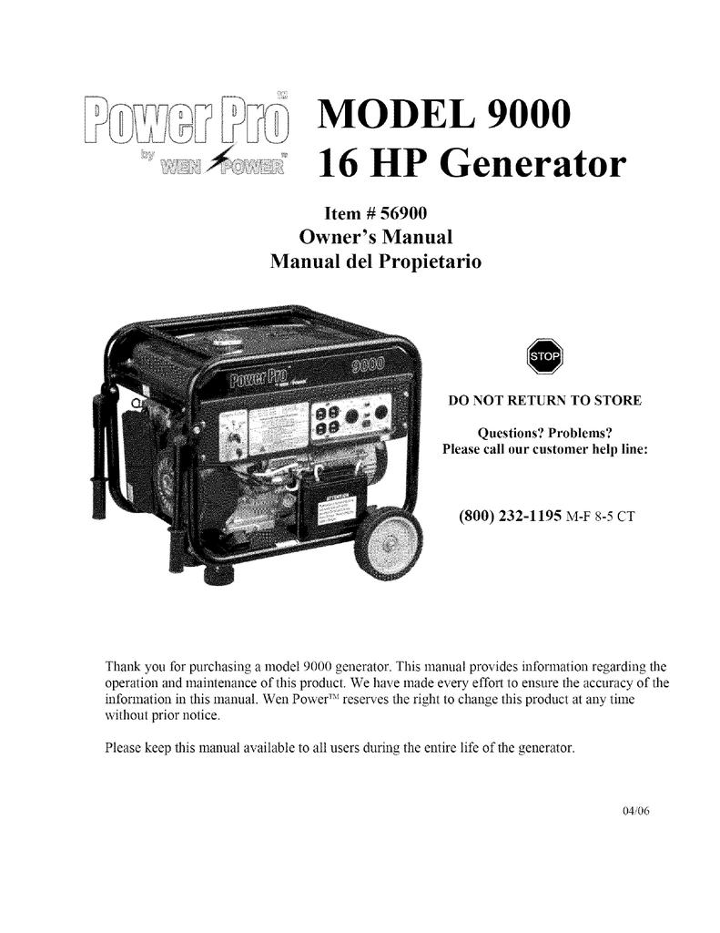 Electrical Wiring Diagram Of Diesel Generator : Powerhorse generator wiring diagram