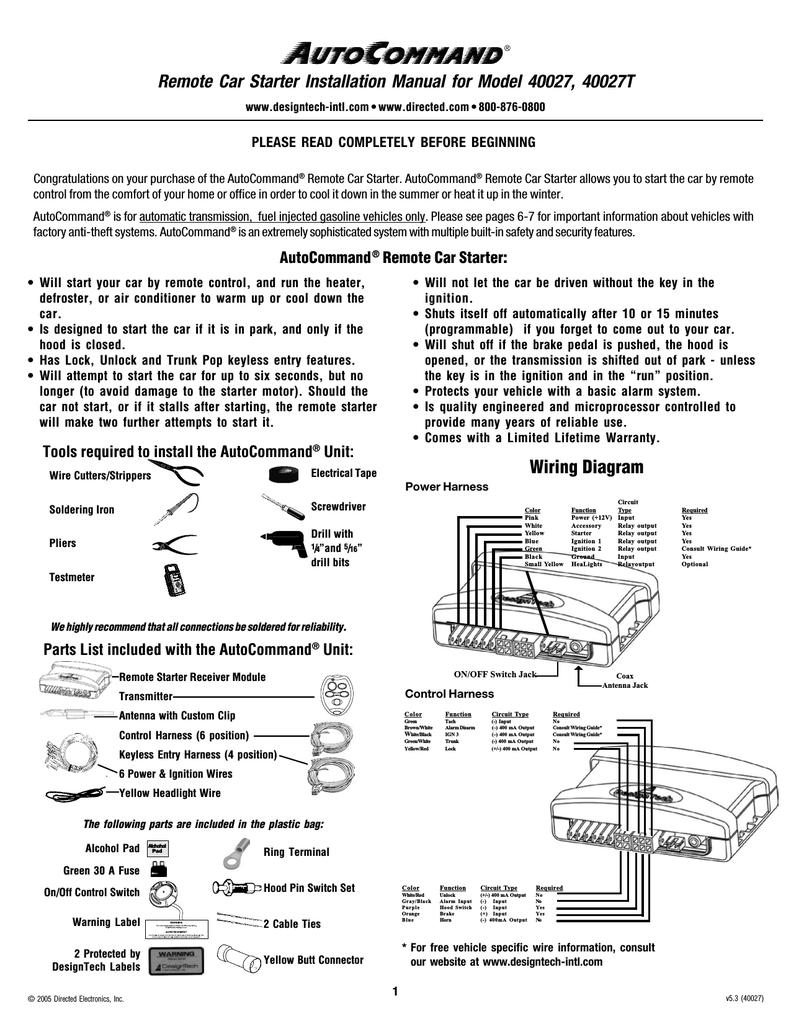 car alarm installation instructions