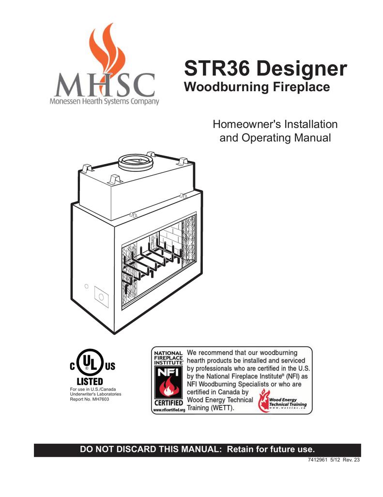 Majestic Fireplaces Str33 Specifications Manualzz