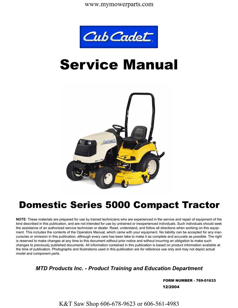 Cub Cadet 5000 Series Service manual | manualzz com