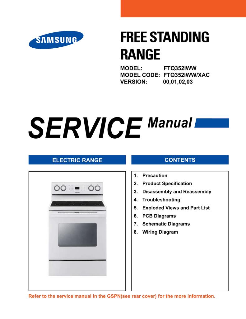 samsung ftq352iwuw service manual