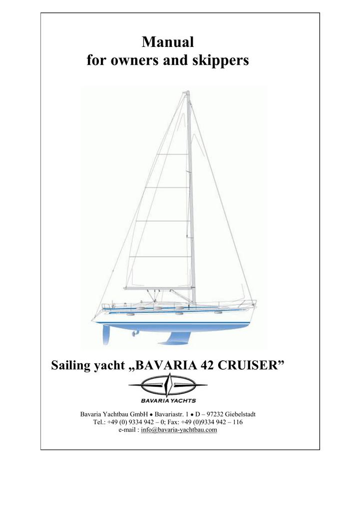 Bavaria 42 Cruiser Owner S Manual Manualzz Com