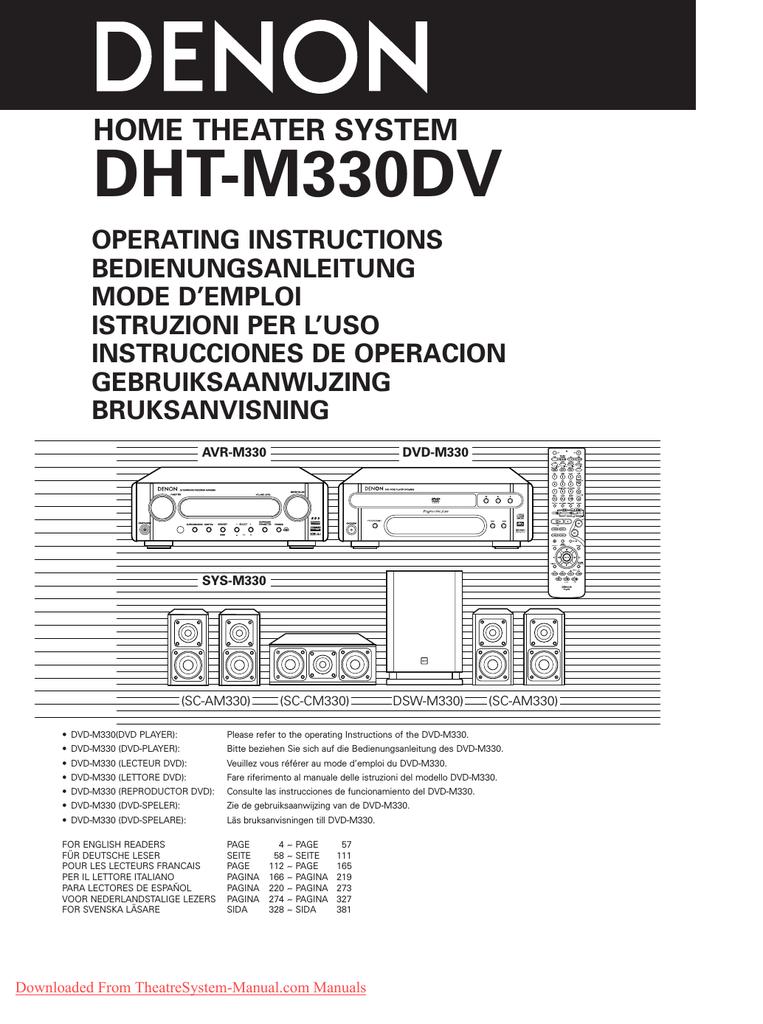 Denon DVD-M330 Operating instructions   manualzz com
