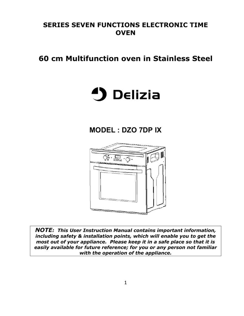 Delizia Dzo 7dp Ix Instruction Manual Manualzz