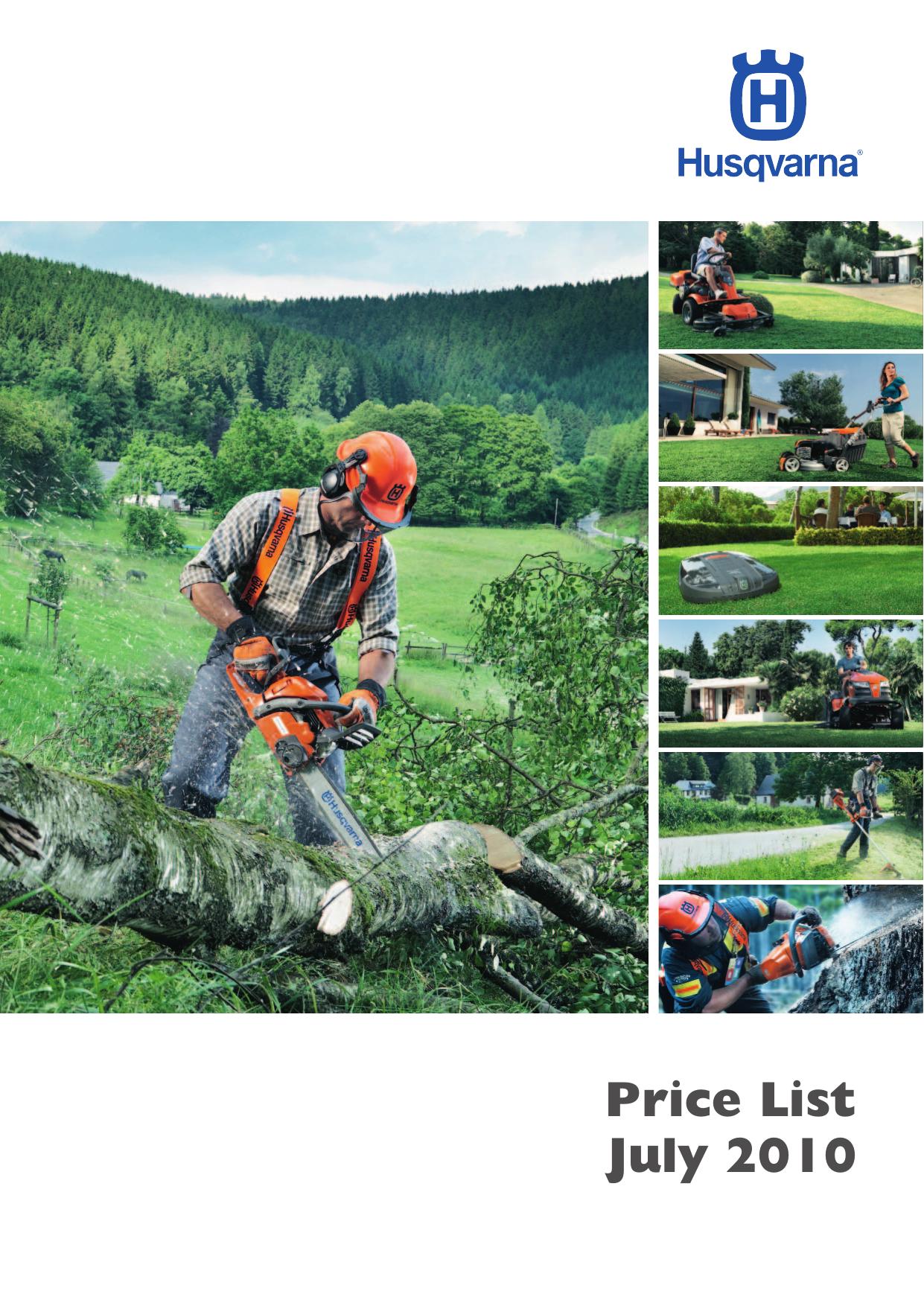 Husqvarna price list July 2010 | manualzz com