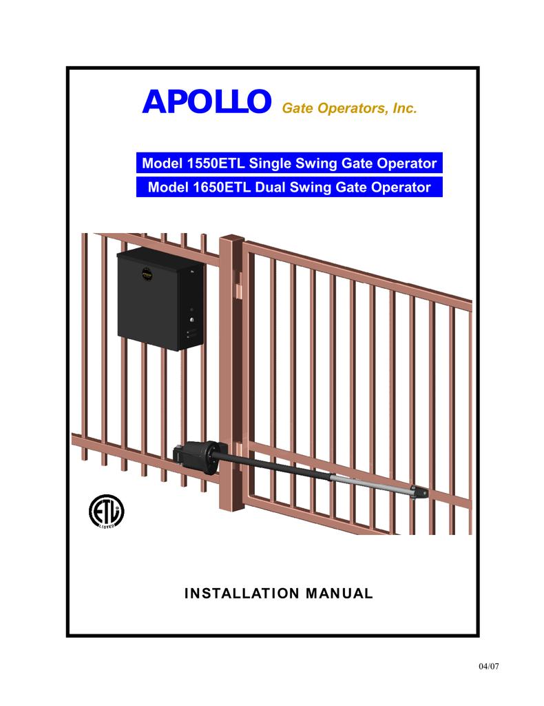 Apollo 1550etl Installation Manual Manualzz Com