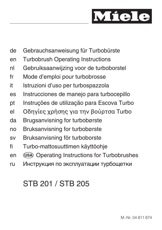 Miele STB 201 Vario Bedienungsanleitung
