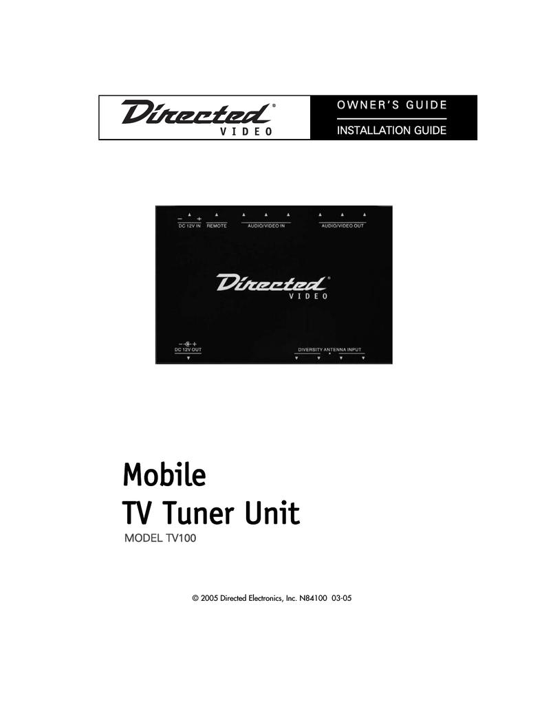 directed video tv100 installation guide manualzz com rh manualzz com  Electronic Arts Inc