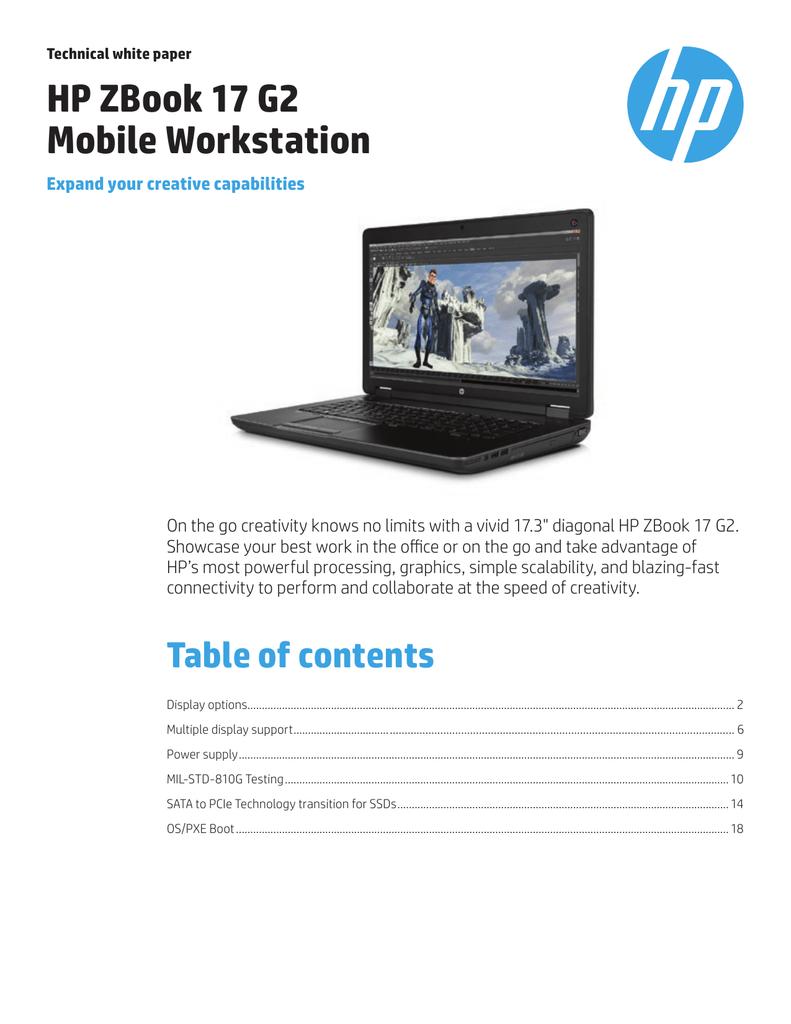 HP ZBook 17 Specifications | manualzz com