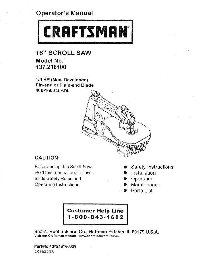 Craftsman 137216100 operators manual manualzz greentooth Images