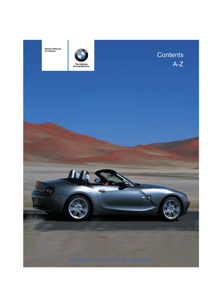 Bmw Z4 Owner S Manual Manualzz