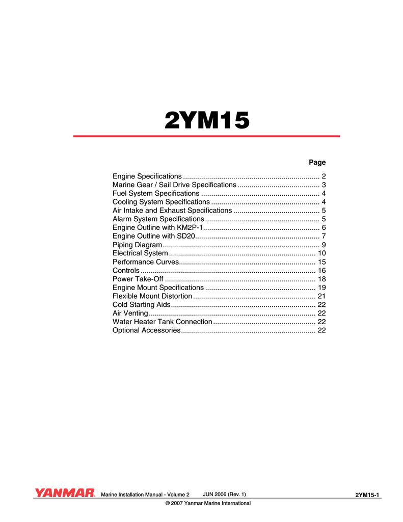 Yanmar Marine Installation Manual, Vol. I | manualzz.com on