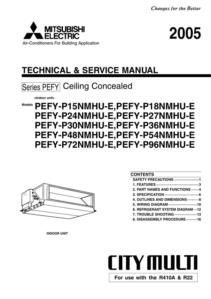 Mitsubishi Pefy P24nmsu E Service Manual Manualzz