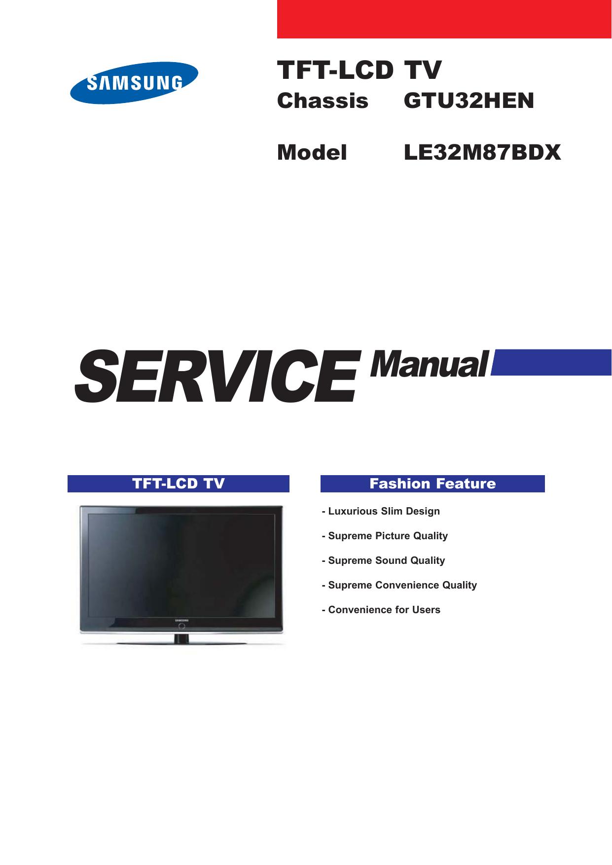Samsung le37m87bdx bwt инструкция пользователя
