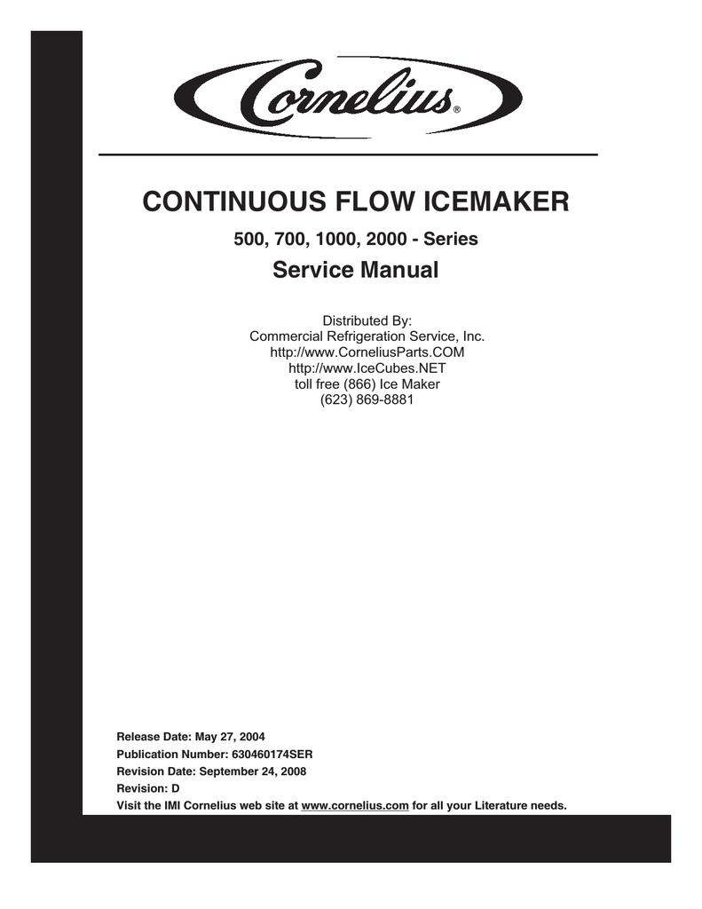 Cornelius 700 - Series Service manual   manualzz.com on