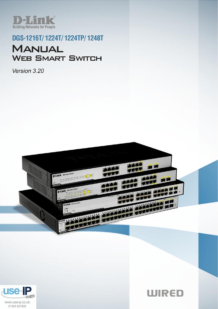D-link dgs-1224t web smart switch manual.