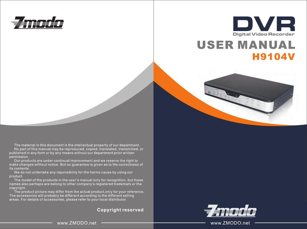 ZMODO H9104V User manual | manualzz com