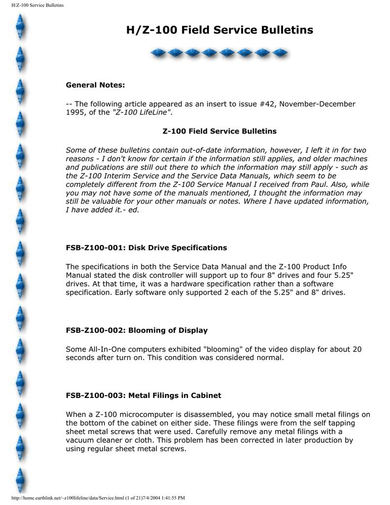 Zenith Z-100 Series Service manual | manualzz com
