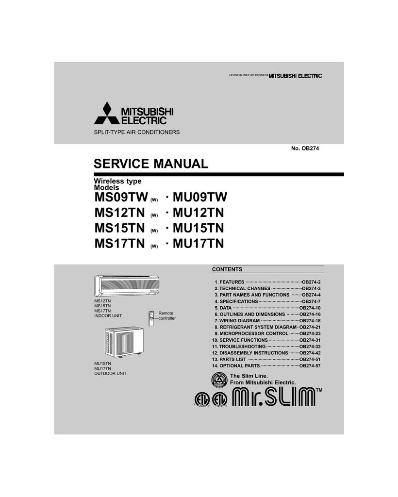 Mitsubishi electric mr 385cl service manual buycottarizona Choice Image