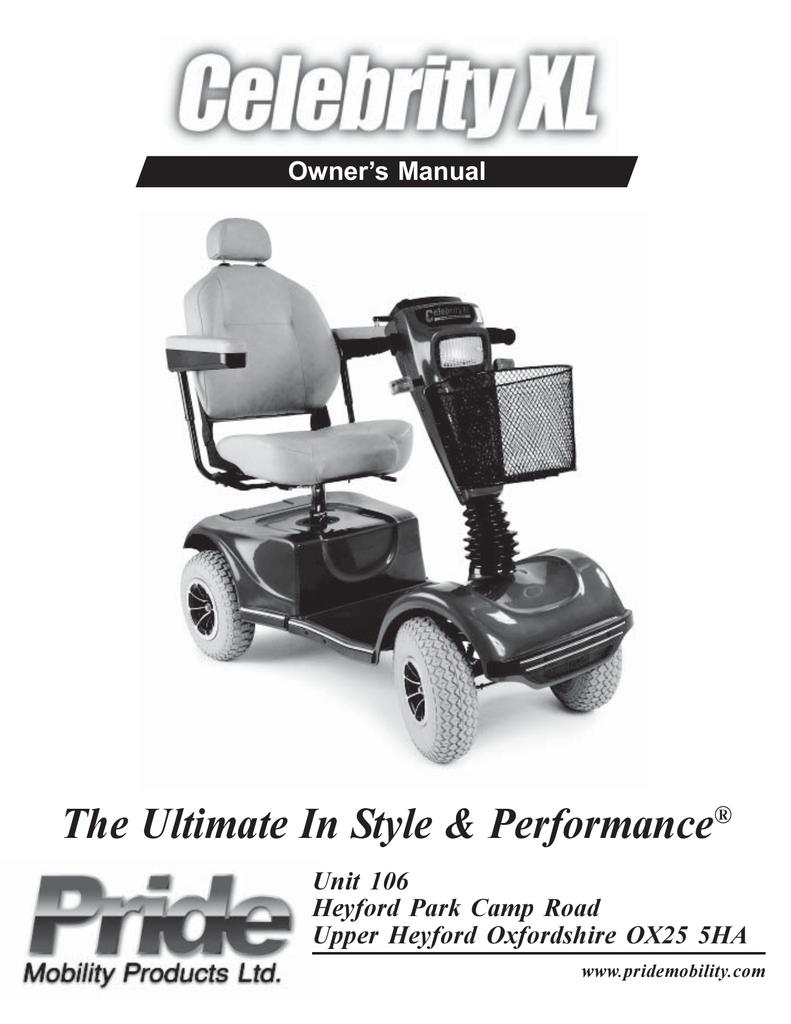 pride mobility ultimate 4 xl owner s manual manualzz com rh manualzz com celebrity x scooter manual celebrity x scooter manual