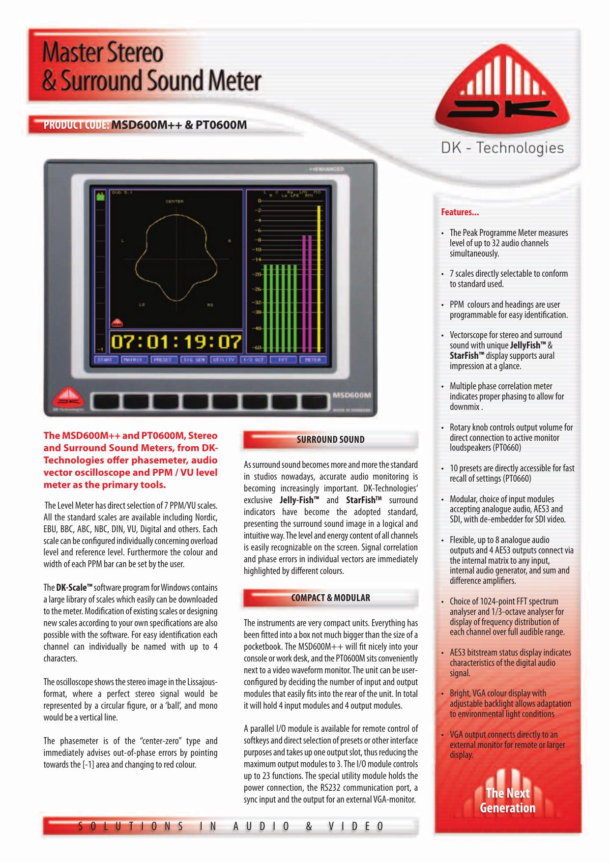 DK Technologies MSD600M brochure - fra www | manualzz com
