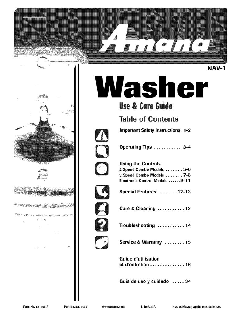 Amana NAV-1 Installation manual   manualzz.com on