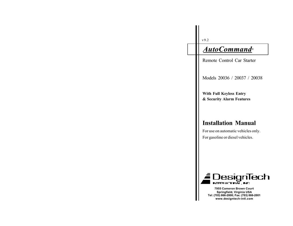 Code Alarm Ca6553sst Installation Manual Passlock Wiring Diagram Testing Procedure Test