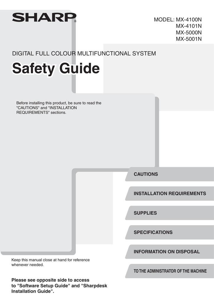 sharp mx4101n manual