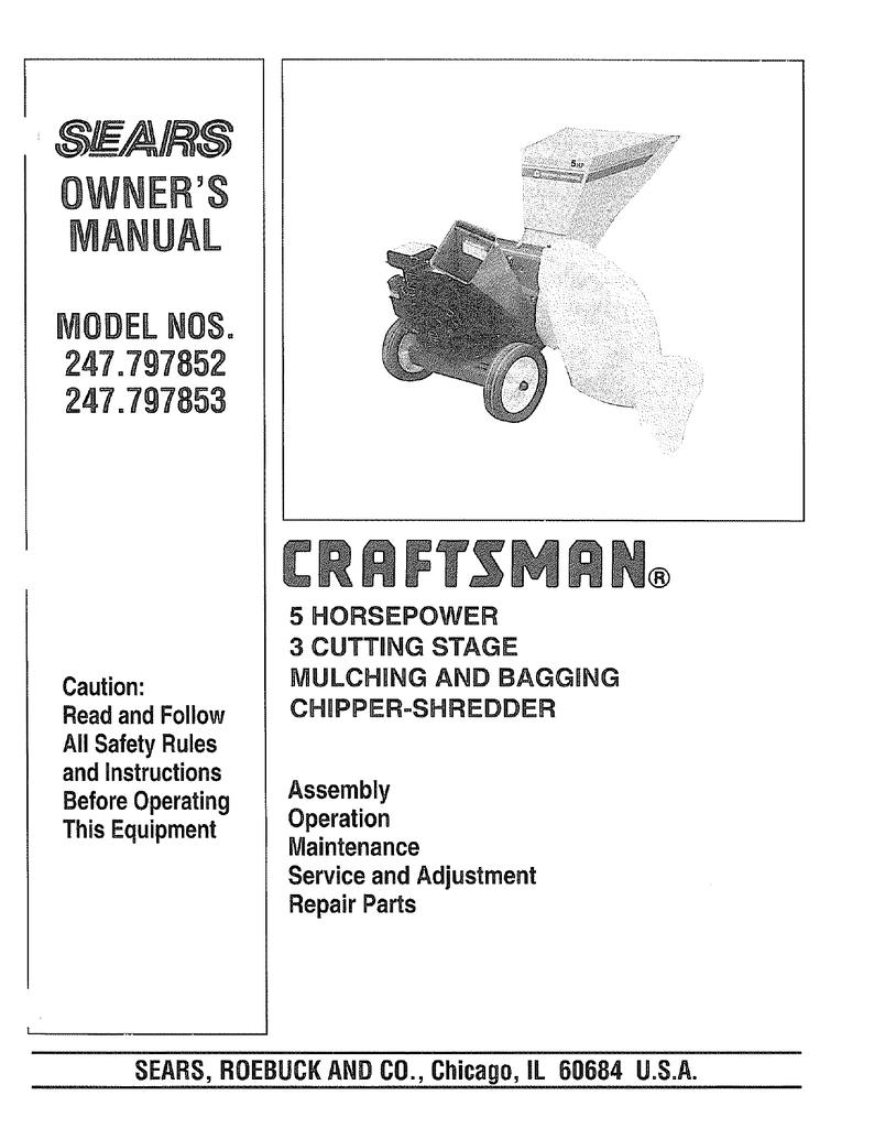 Craftsman 247 797852 Owner S Manual Manualzz