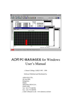 AOR AR2700 - User manual