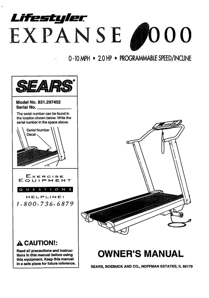 sears 831 297452 owner`s manual