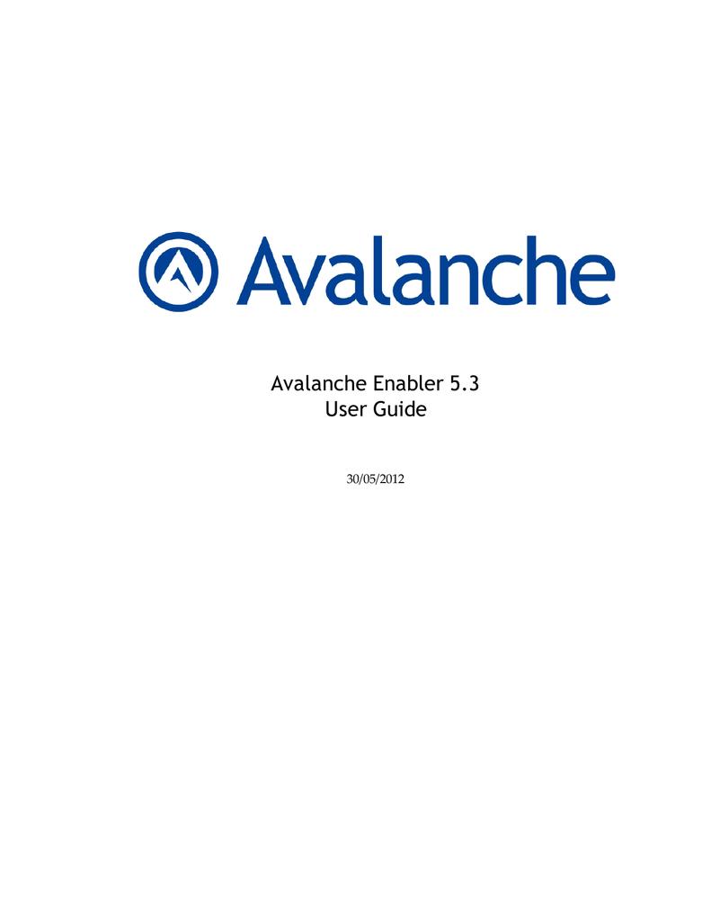 Wavelink Avalanche User guide | manualzz com