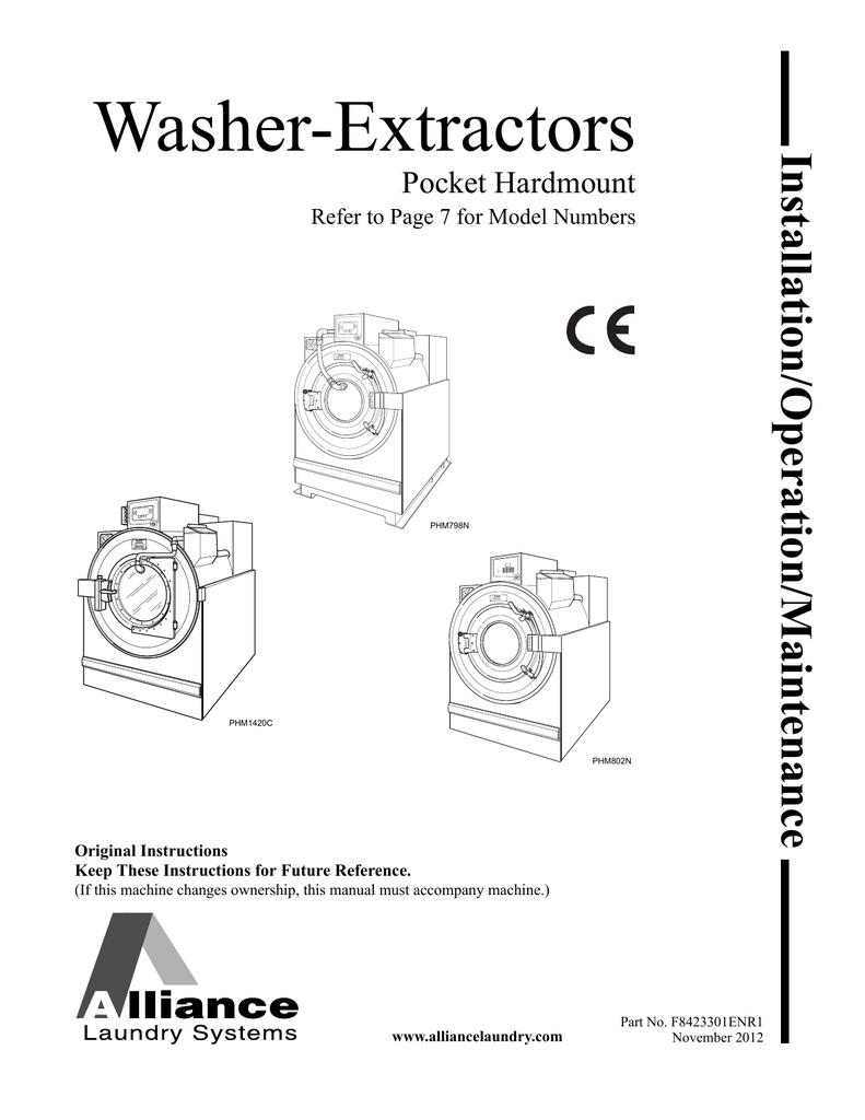 Alliance Laundry Systems Phm802n Specifications Washing Machine Door Interlock Wiring Diagram