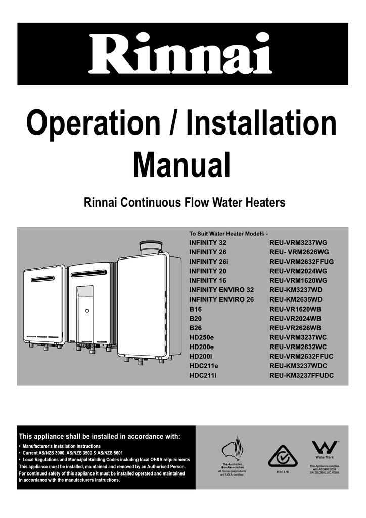 rinnai b16 installation manual manualzz com rh manualzz com rinnai infinity 16 user manual