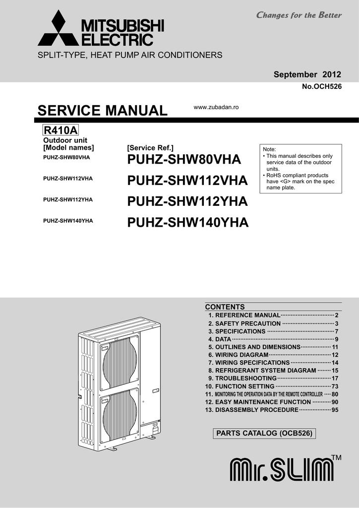 Mitsubishi Electric Ehpx Series Service Manual Manualzz