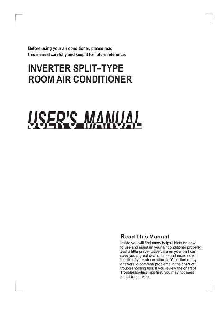 Midea Air Inverter Split Type Room Air Conditioner Operating Instructions Manualzz