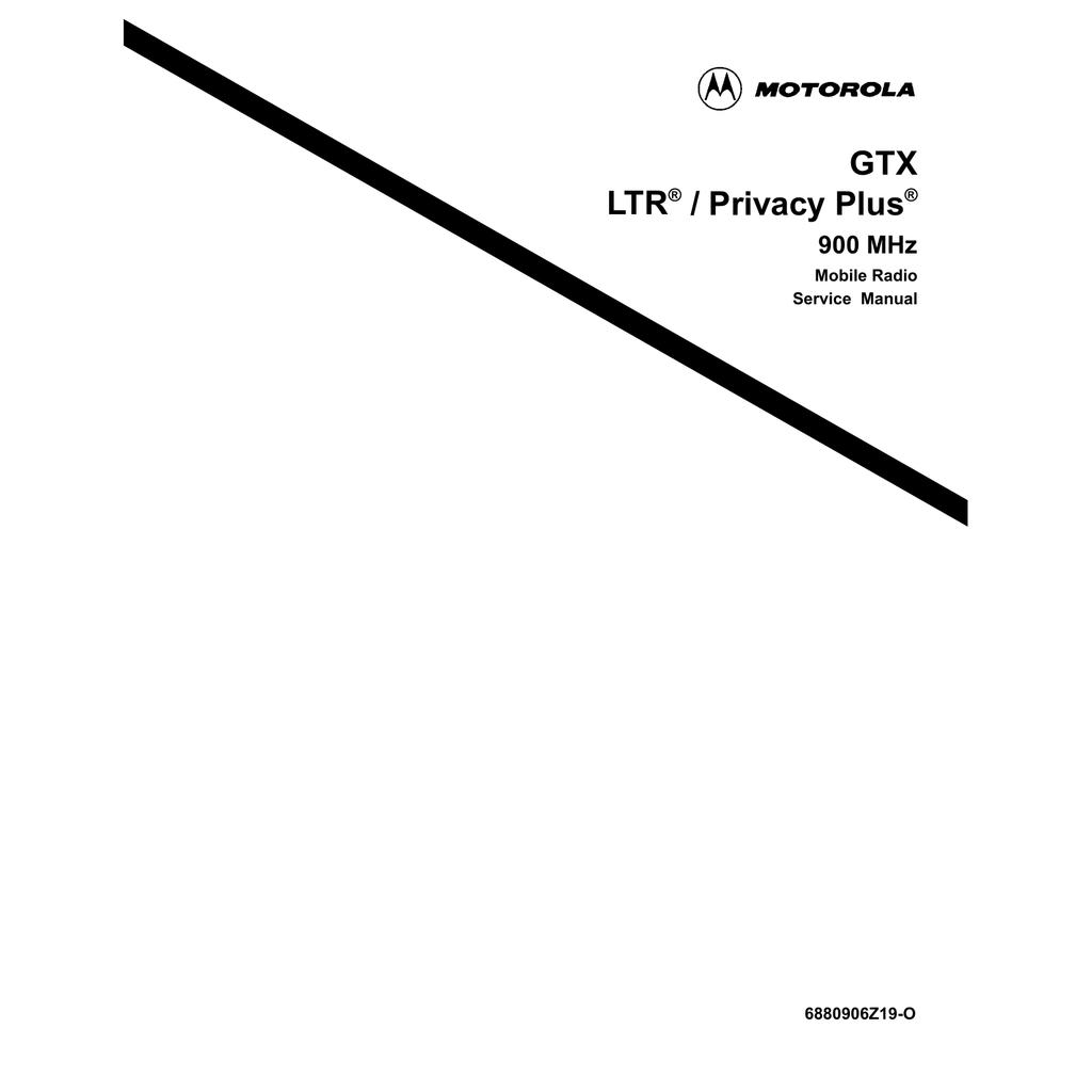 Motorola GTX LTR Service manual | manualzz com