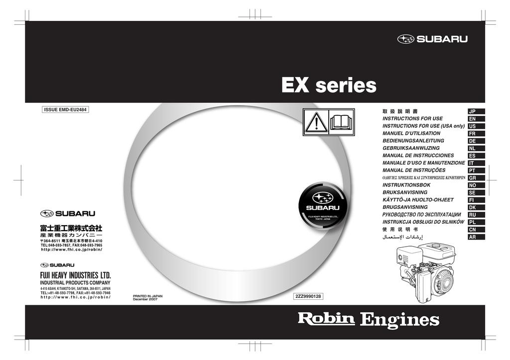 subaru 265cc engine diagram robin america engine ex40 owner s manual manualzz  robin america engine ex40 owner s