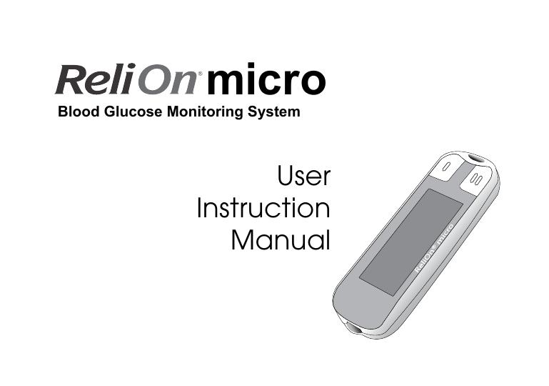 Relion Confirm Instruction Manual Manualzz